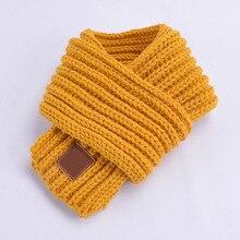 Горячая Распродажа, детский зимний шарф для мальчиков и девочек, детский шарф с помпоном, теплые шарфы для шеи, вязаные шерстяные теплые шарфы для шеи