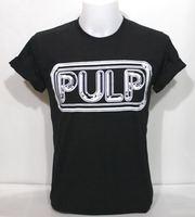 Pulp Logo Black VTG Retro Men Tee T Shirt UK Indie Alternative Punk Rock Band L