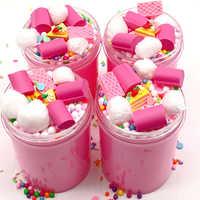120 ml 60 ml DIY Weiche Lollipop Rosa Schleim Spielzeug für Kinder Gummi Lizun Schleim Anti-Stress-Spielzeug Dynamische Sand für squeeze Spielzeug