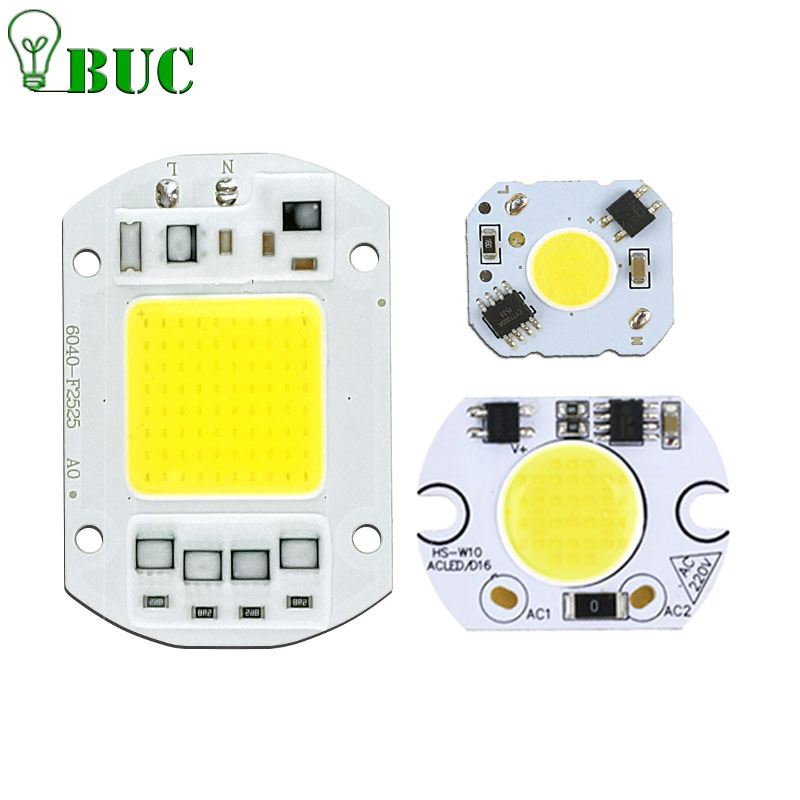COB LED Chip Real Power 5W 10W 20W 30W 50W LED Lamp Bulb 220V 240V Input IP65 Smart IC For DIY Outdoor LED Flood Light led cob chip 5w 20w 30w 50w 220v input