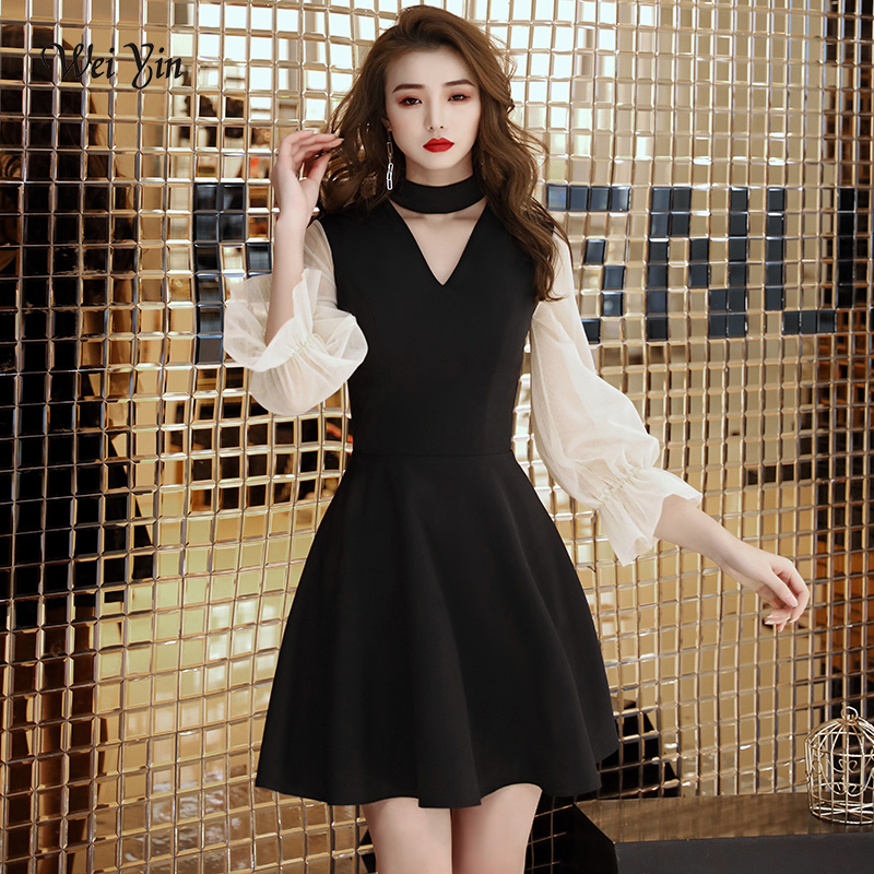 weiyin Black Princess   Cocktail     Dresses   Elegant 2019 Zipper Evening Party Gown Women Special Occasion   Dress   WY1487