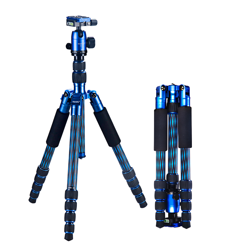 New Manbily CZ-306 CZ306 professional forked carbon fiber tripod set  portable SLR camera tripod with detachable Monopod manbily cz 305 professional carbon fiber tripod for camera can changed monopod ball head 3 colors are optional free ship by dhl