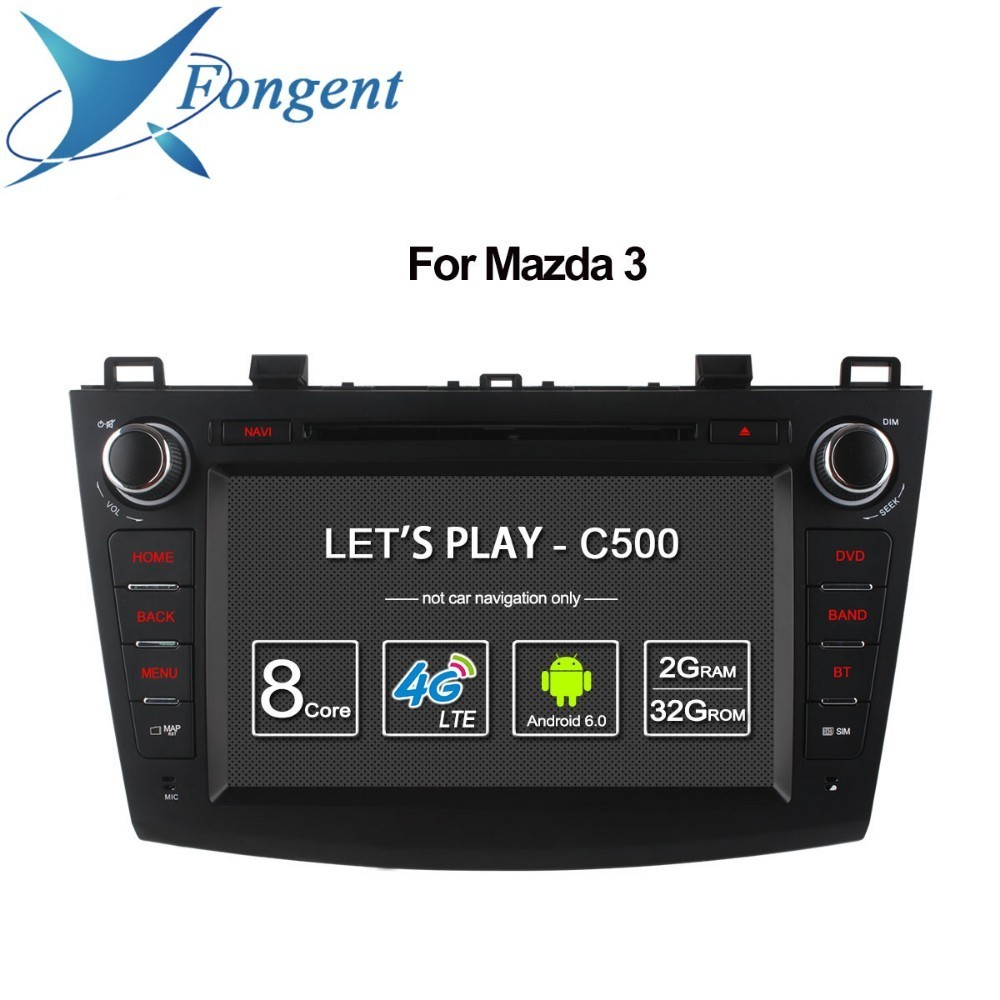 For Mazda 3 2008 2009 2010 2011 2012 2013 Android Unit Radio Stereo Multimedia Player 1 2 din DVD GPS Navigator Carplay DAB+ PC цена