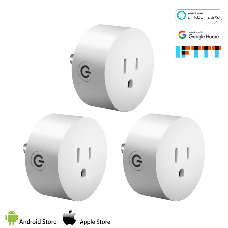 Smart Plug Ifttt 3 Pack Work With Alexa And Google No Hub