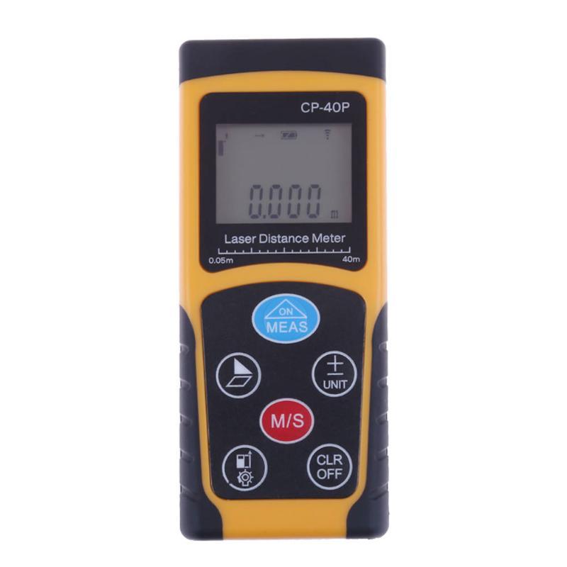 100m Portable Laser Range Finder Electric Infrared Laser Distance Measuring Gauge Digital Measure Meter Rangefinders 4 8 days arrival lb92t portable sweetness tester brix meter with measuring range 58 92