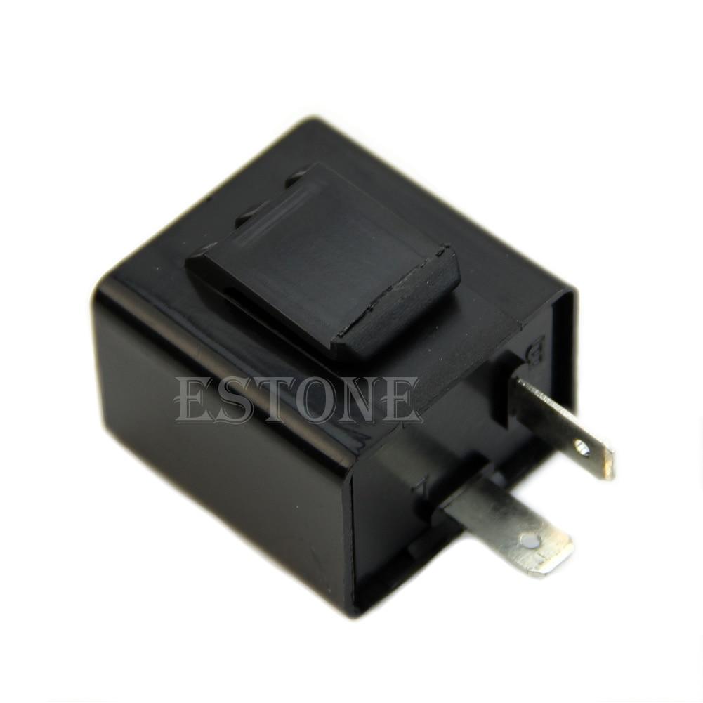 New Turn Signal Flasher Blinker Relay 12V 2 Pin Motorcycle LED Indicator Light