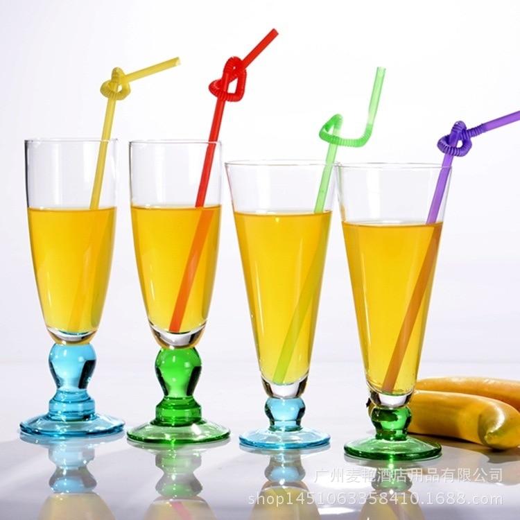Milkshake-Cup Drink-Glass Creative-Cup Transparent-Color Base 360ml High-Juice-Juice-Cup