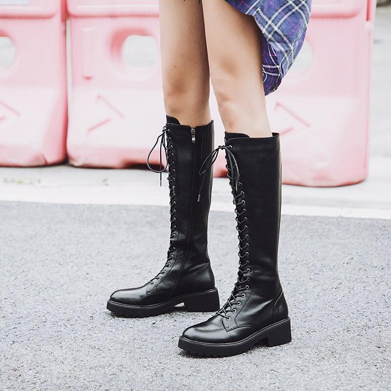 34 D'hiver Véritable Sexy 43 Genou 2018 En Nemaone Mode Rouned De Cuir Réel Noir Bout Peluche Femmes Femme Bottes Taille Haute Grande Chaussures qFwtxf1Y