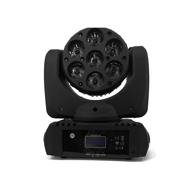 LED 7x12w LED Beam Moving Head Light RGBW 4in1 High Power Beam Moving Light DMX512 Led Projector For DJ Disco Club