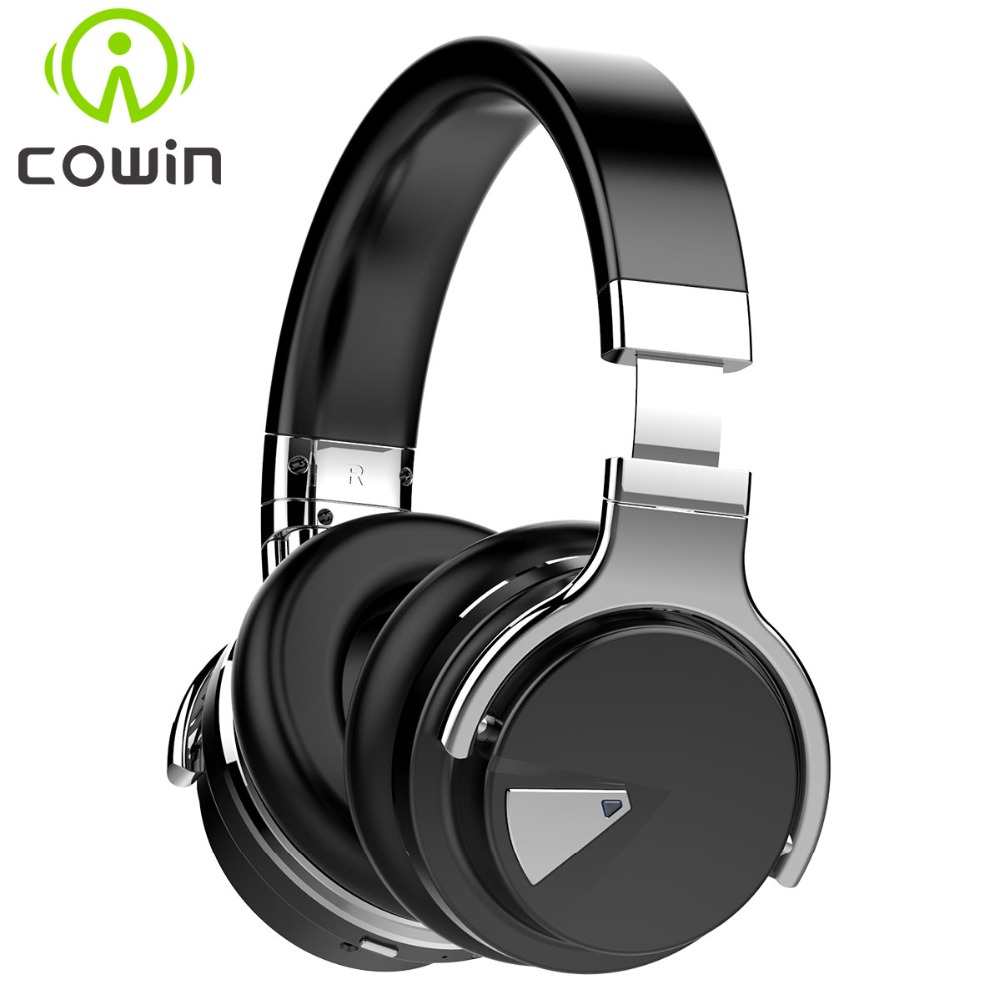 Cowin E-7 Wireless Bluetooth Headphones with Microphone Over Ear Stereo Headsets for Phone/PC/3.5mm Audio and 30 Hours Playtime