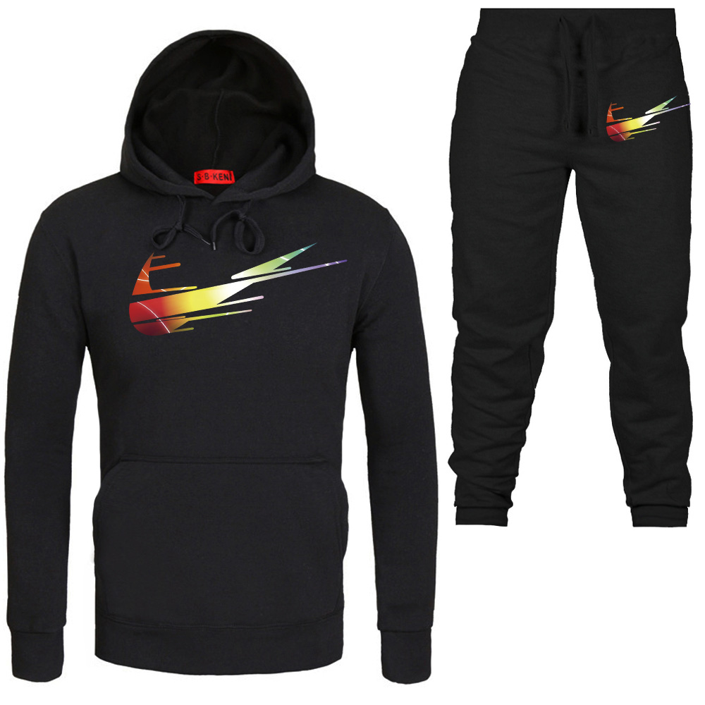 New Males Set Clothes Cotton Informal Sportswear Tracksuits Sweatshirt Units Gyms Hoodies+Pants Units Hombre Autumn Winter Fleece Hoodies & Sweatshirts, Low cost Hoodies & Sweatshirts, New Males Set Clothes...