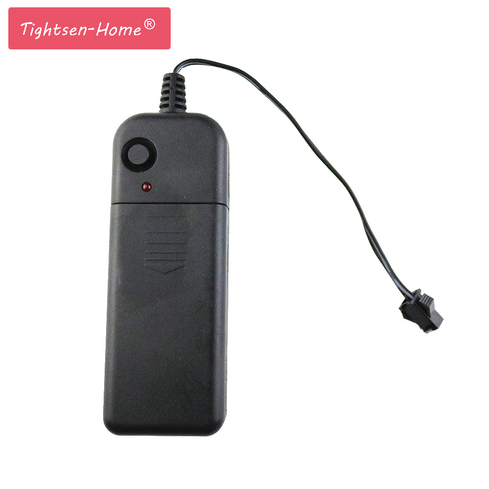 Battery Controller Driver For 1-10M LED El Wire Glow Flexible Neon Decor Chasing Strip light DC3V Use 2xAA Battery Portable