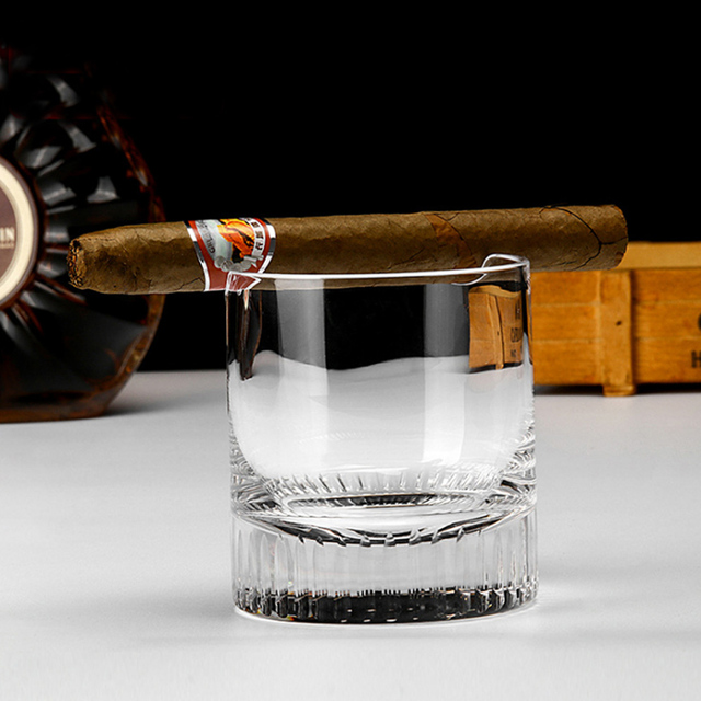 Whisky Glass Cigar Cup Cigarette Clear Crystal Whiskey Glass Drinking Wine Liquor Brandy Beer Cup Cigar Holder Wine Glasses 1