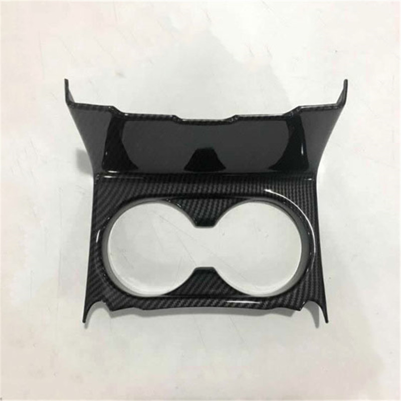 FIT For 2017 Mazda cx5 cx-5 abs electroplating carbon fiber cup decoration box internal and external modifications