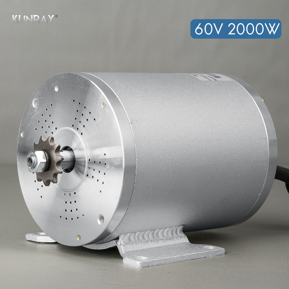 KUNRAY BLDC <font><b>60V</b></font> <font><b>2000W</b></font> E-Scooter Bike Motocross <font><b>Motors</b></font> High Speed 4600r/min For 2 Wheel Electric Scooter Bicycle Dropshipping image
