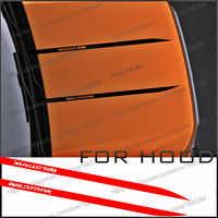 car decals 2PC cool protect hood bonnet stripe graphic Vinyls sticker custom for FORD RANGER everest