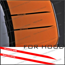 free shipping  2 PC cool hood bonnet Gradient side stripe graphic Vinyl sticker for Ford ranger 2015 2016 2017sticker