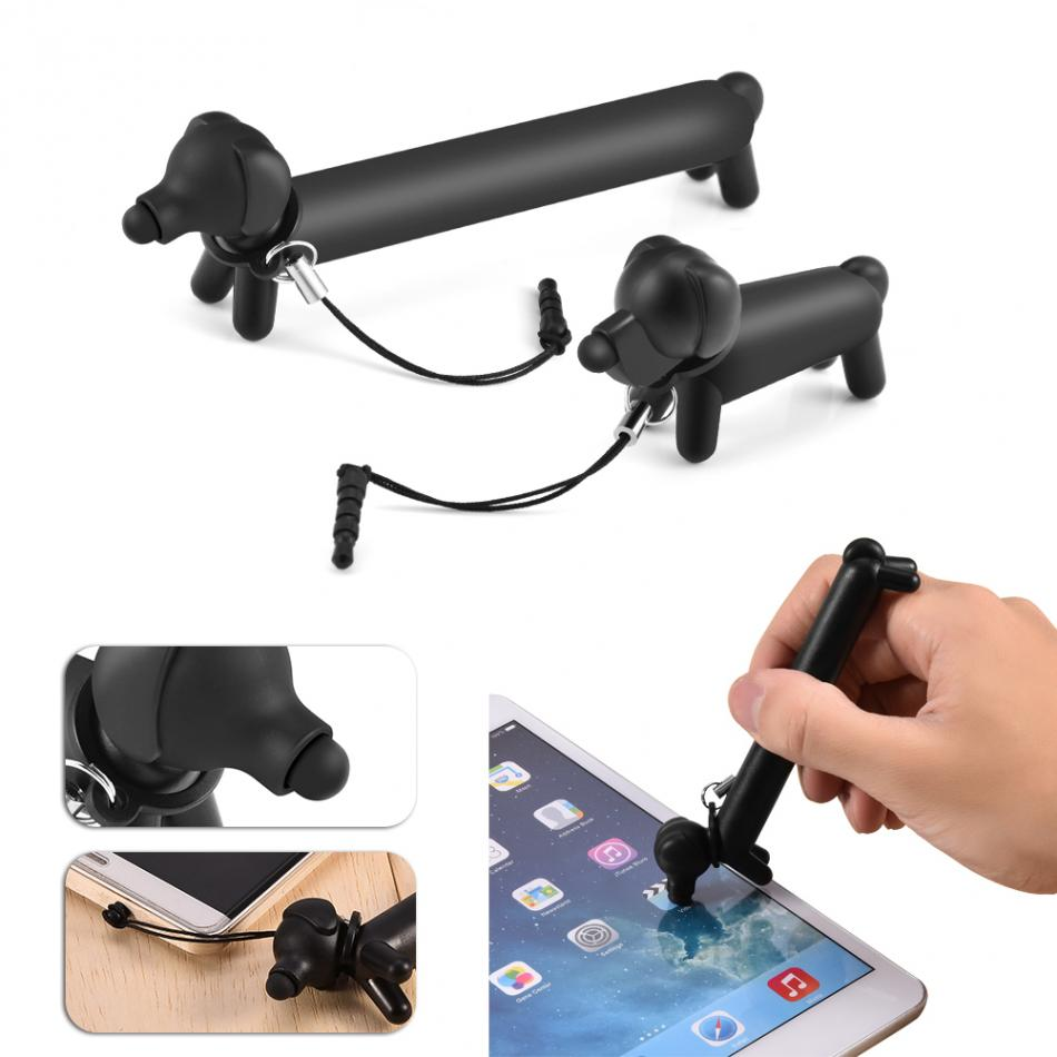 Dog Stylus Pen for Phone Capacitive Touch Screen Stylus Pen for Tablet Universal for iPhone/Samsung <font><b>Smartphone</b></font> with dust <font><b>plug</b></font>