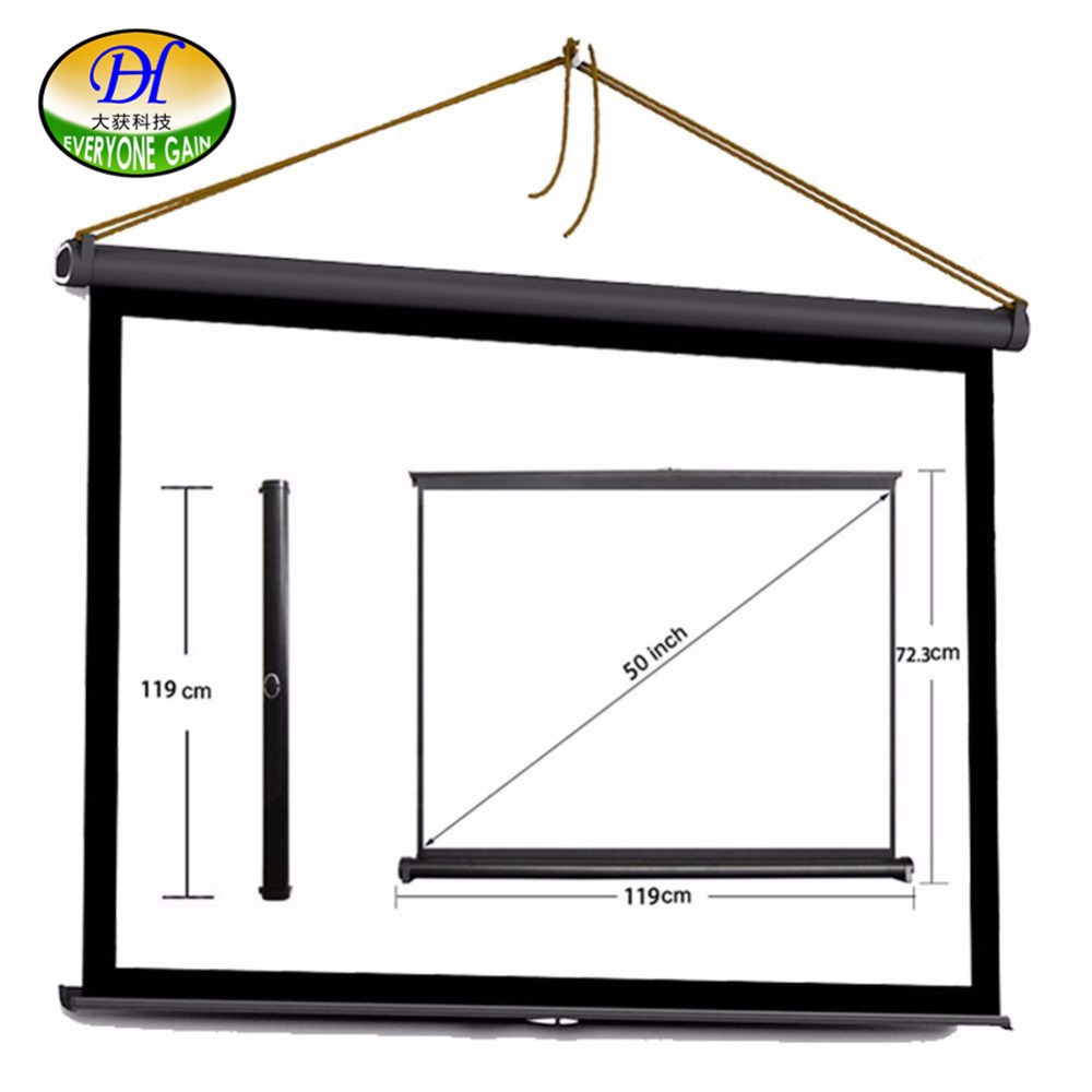 Everyone Gain Table Screen 50 inch 16:9 Matte White Portable Projection Projector Screen For Office Business Meeting everyone gain projection screen 40 inch 16 9 table screen projector hd screen portable easy carry proyector screen fabric