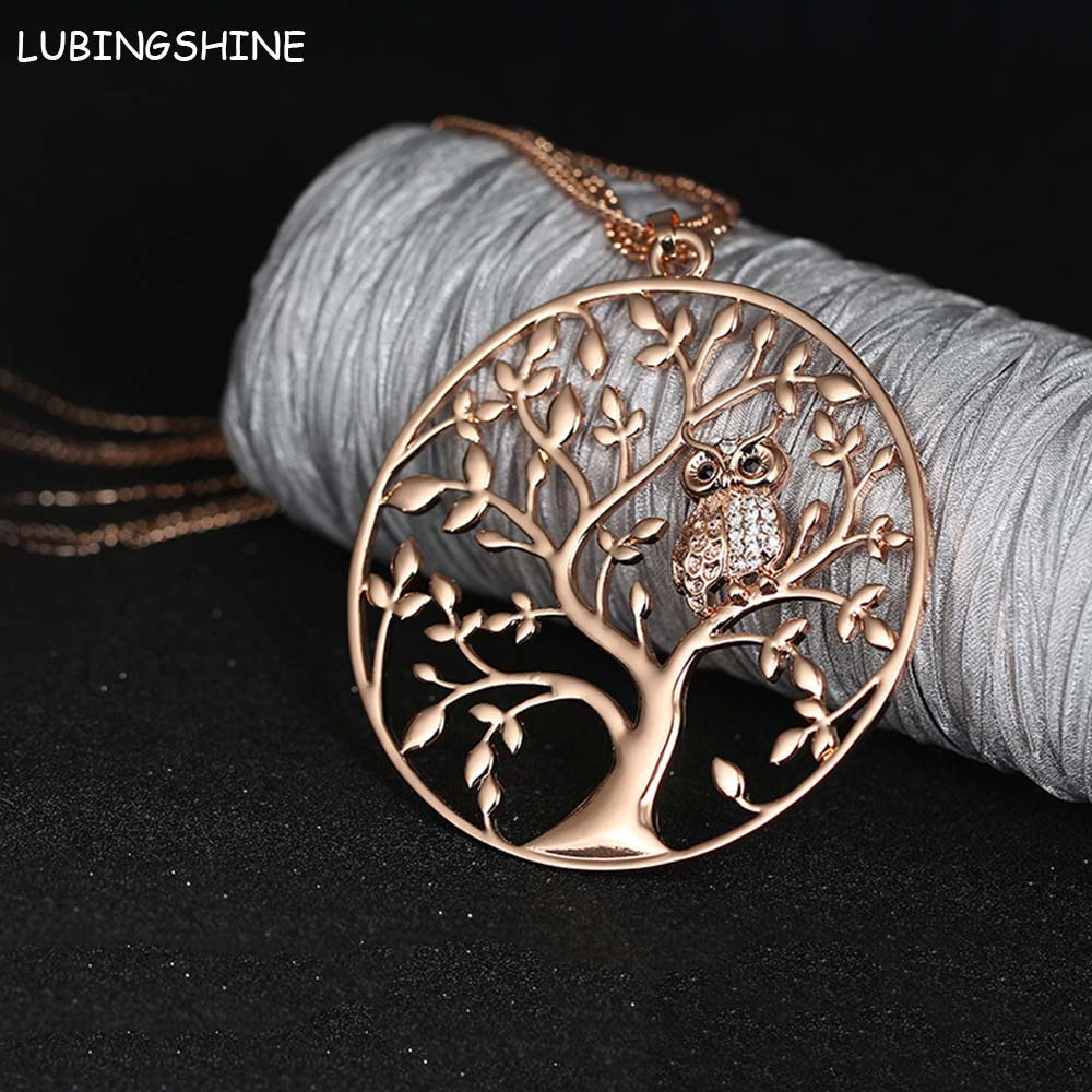 Online Buy Wholesale tree of life necklace rose from China tree of