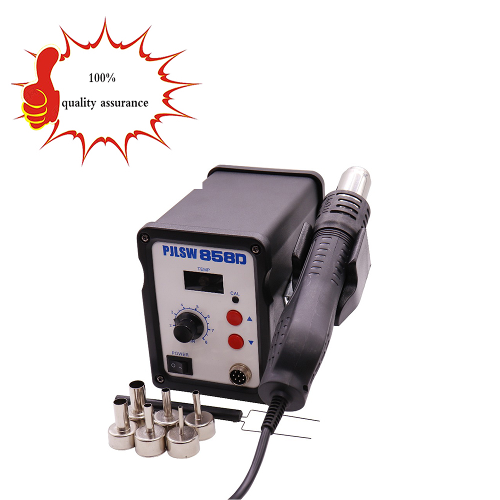 PJLSW Hot Air Gun 700W ESD Soldering Station LED Digital Heat Gun Desoldering Station 858D Solder Blowser hot air rework station heat gun hot air gun handle for youyue 858 858d 8586 rework soldering station hot air gun 8 holes