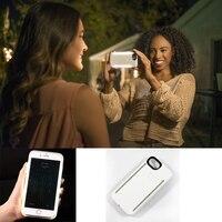 SUPOLOGY Светодиодные светящиеся Телефон Дело Чехол для iPhone 6 6 плюс Селфи Световой Телефон Задняя крышка для iPhone 7 7 plus С ЛОГОТИП