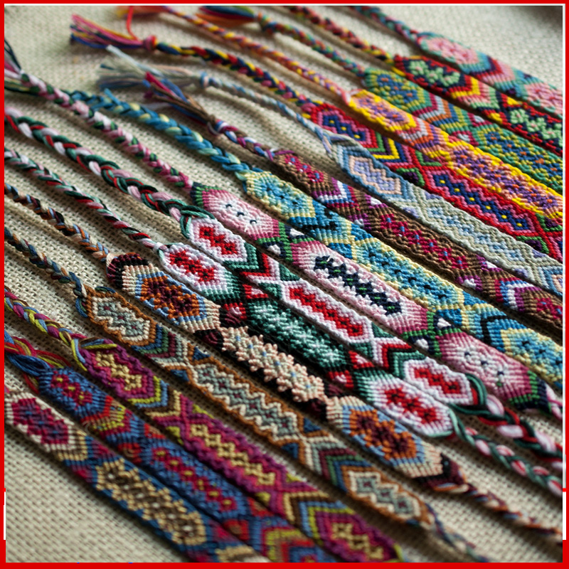 No 1 15 Free Shipping Full Color Fashion Hand Made Ranbow Bracelet Bohemia Friendship Woven Bracelets In Charm From Jewelry