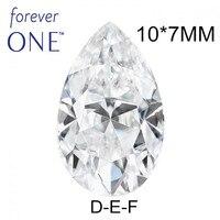 Положительный Тесты сертифицировано двумя Карат Эффект фантазийной огранки груша VS DEF Цвет Муассанит без огранки алмазные камни Чарльз