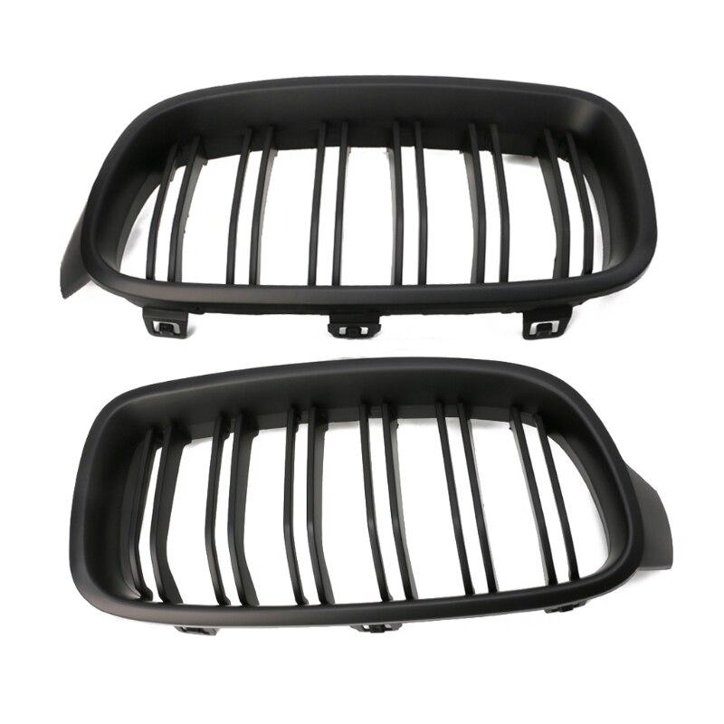 1 paire rein de calandre noir mat pour BMW série 3 F30 F31 F35 2012-2016 nouveau