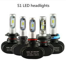 2PCS S1 H4 led H7 H11 Led H1 Auto Car Headlight 50W 8000LM 6000K 9005 HB3 9006 HB4 Automobile headlight Bulb All In One CSP Lamp 1 set h7 60w 8400lm p7 auto led headlight system fanless all in one korea csp led 12 24v xenon white 6000k driving high power