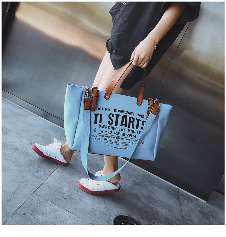 Luxury Ladies Bags Canvas Fashion Large Capacity Tote Bags Letter Shoulder Messenger Bags for Women 2018 Casual Tote Luis Vuiton 11