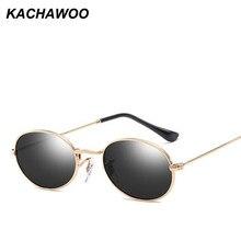 aec81f74d0 Kachawoo negro pequeño oval gafas de sol hombres espejo gafas de sol retras  del marco del Metal para las mujeres accesorios vera.