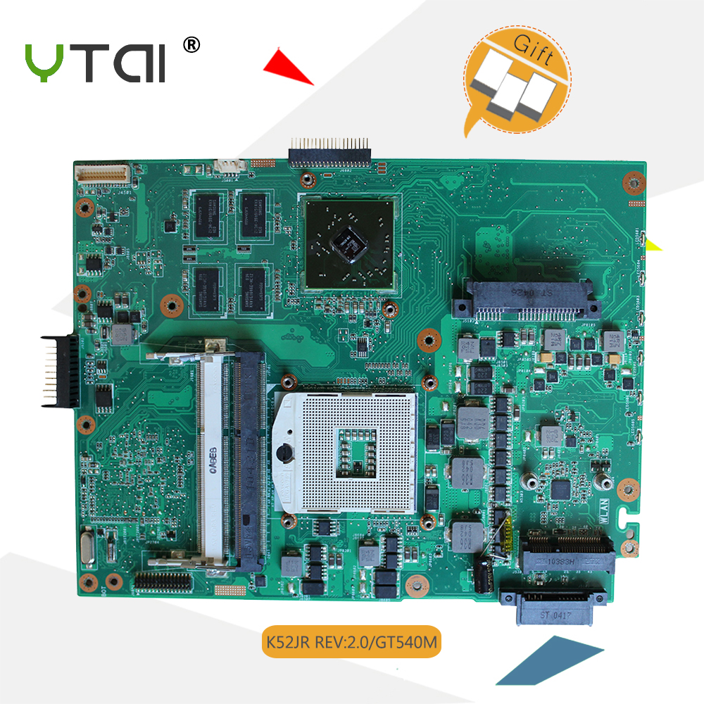 цена на YTAI K52JR K52J K52JC REV:2.0 HM55 DDR3 Motherboard for ASUS K52J A52J K52JT K52JC K52JR laptop motherboard HM55 DDR3 Mianboard