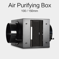 HVAC ventilation air purifying box 100/150mm with Activated carbon metal air purifier high efficient HEPA filter to remove PM2.5