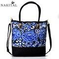 Boho Ethnic Embroidery Bag Vintage Floral Embroidered Canvas Shoulder Large Messenger Bags Designer Handbags High Quality