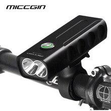 MICCGIN велосипед T6 Светодиодный MAX 1000LM 18650 велосипед свет Фонари для езды на велосипеде фонарик USB Перезаряжаемые лампы фар аксессуары