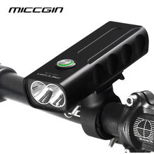 MICCGIN Bike T6 LED MAX 1000LM 18650 Bicycle Light Lantern For Cycling Flashlight USB Rechargeable Headlight Lamp Accessories(China)