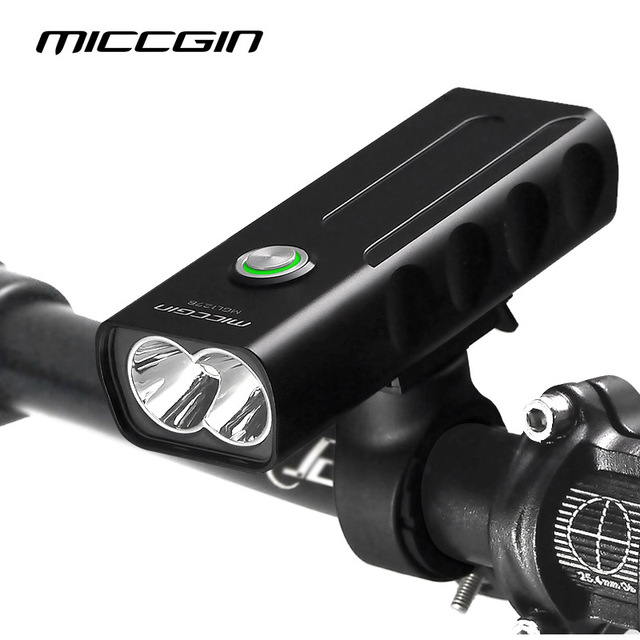 MICCGIN Bike T6 LED MAX 1000LM 18650 Bicycle Light Lantern For Cycling Flashlight USB Rechargeable Headlight Lamp Accessories