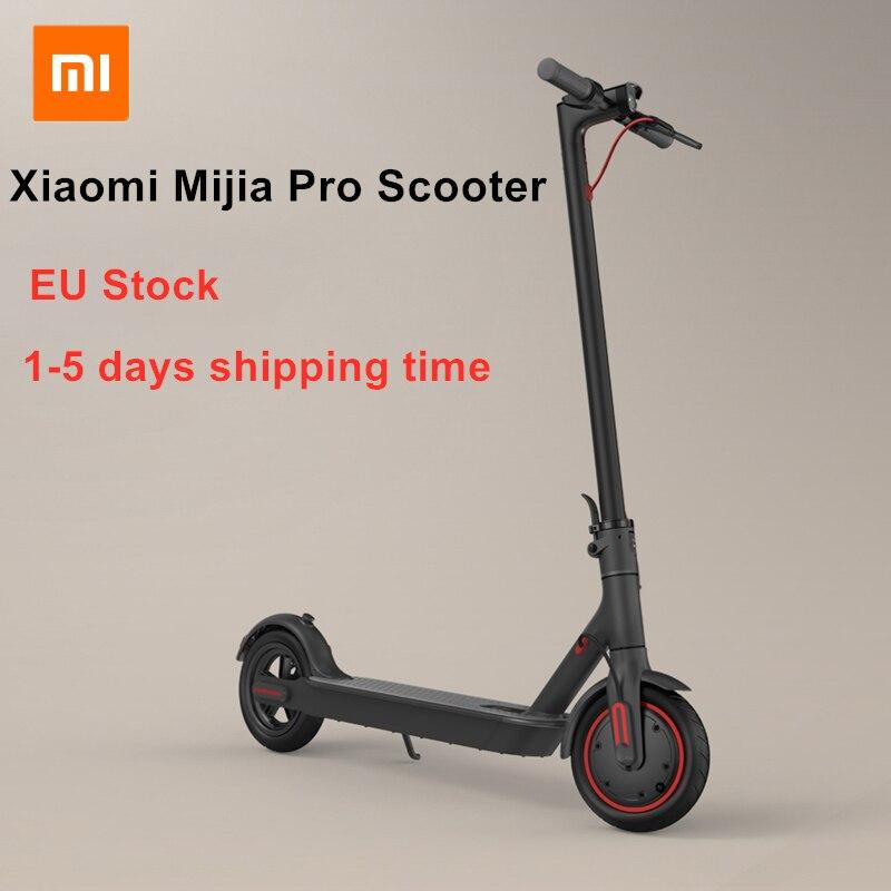 EU Estoque Xiaomi Mijia Pro Inteligente Scooter Elétrico Dobrável KickScooter 45 KM Quilometragem 25 kmh Mini Duas Rodas Skate Hoverboard