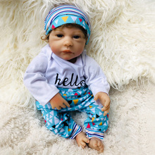 New Arrival 18inches Silicone Reborn Doll for Girls Toys Lifelike Born Baby doll Kids Children Brinquedos Juguetes