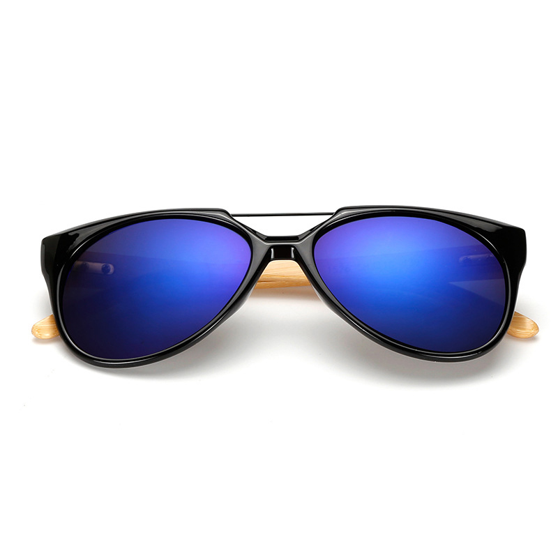 Original Espelhado óculos de Sol Das Mulheres Dos Homens UV400 Óculos de Sol  De Madeira De Bambu de Madeira Real Tons Sunglases Ouro Azul Óculos Ao Ar  Livre ... d24c142444