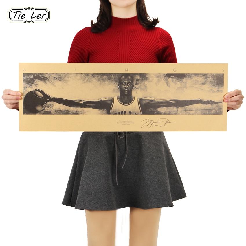 TIE LER Celebrity Retro Kraft Paper Poster Wall Sticker Vintage Poster Wallpaper