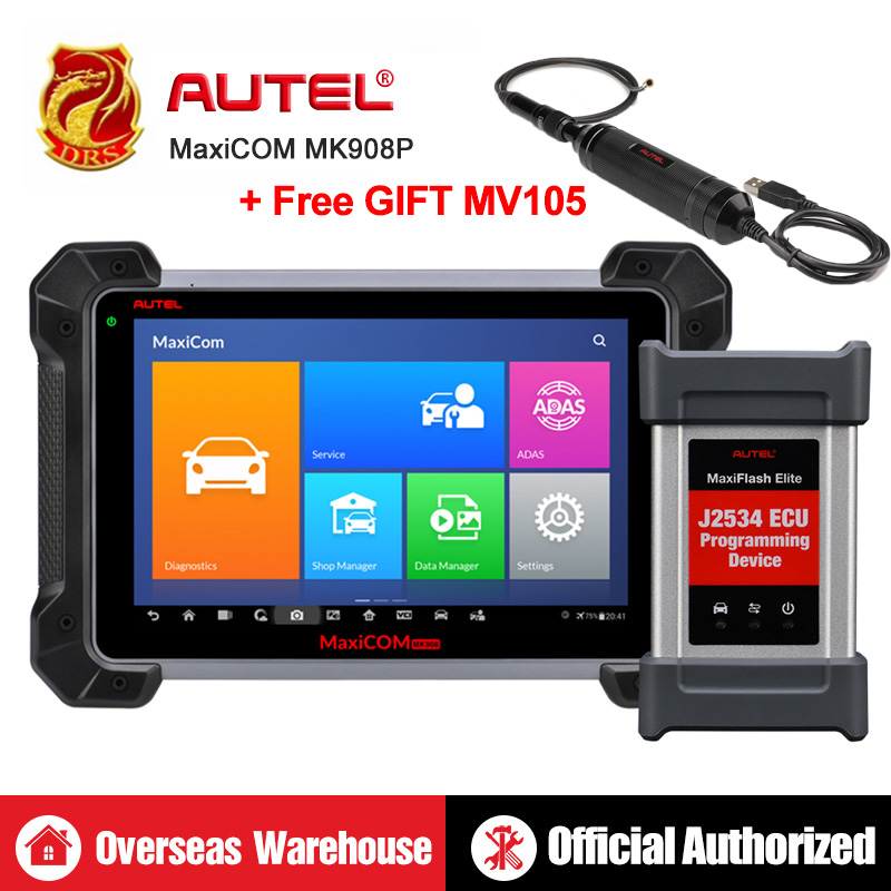 Autel MaxiCOM MK908P MS908P Automotive Diagnostic Tool OBD2 Scanner All System ECU programming J2534 Programmer PK