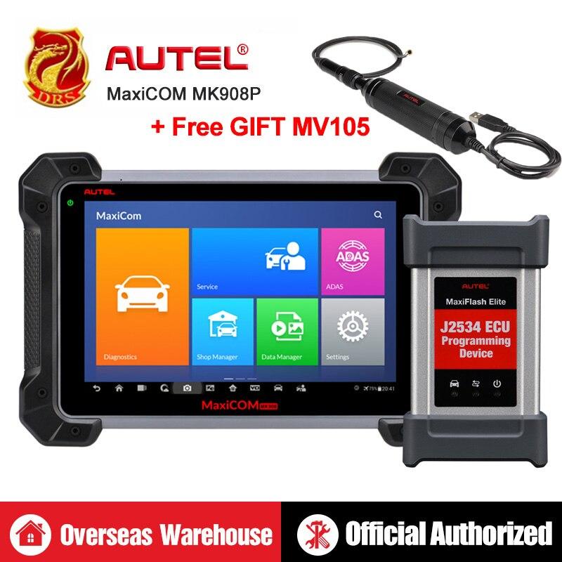 Autel MaxiCOM MK908P MS908P Automotive Diagnostic Tool OBD2 Scanner All System ECU programming J2534 Programmer PK Maxisys Elite