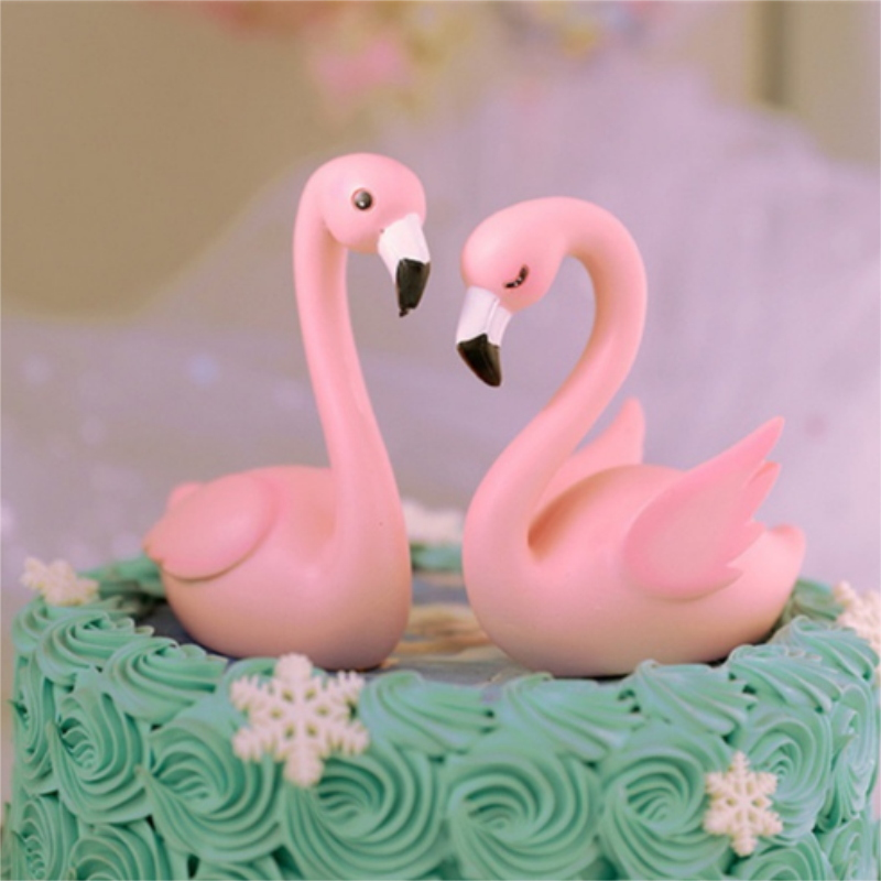 Fashion Cake Topper Wedding Flamingo Pink Yellow HOT DIY Party Cupcake Insert Card Decorations  Pineapple Happy  Birthday