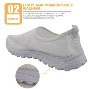 Image 3 - INSTANTARTS แฟชั่นผู้หญิงฤดูร้อนรองเท้า Breathable ตาข่ายรองเท้าผ้าใบรองเท้า Airedale Terrier พิมพ์ดอกไม้หญิงรองเท้า Loafers