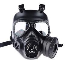 Tactical Head Resina de La Cara Llena de niebla ventilador para CS Máscaras Maniquí Airsoft paintball Wargame Máscara De Gas con Ventilador para Cosplay protección