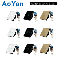 AoYan EU UK Standard TLINK Remote Control Switch 1 Gang 1 Way RF433 Smart Wall Switch