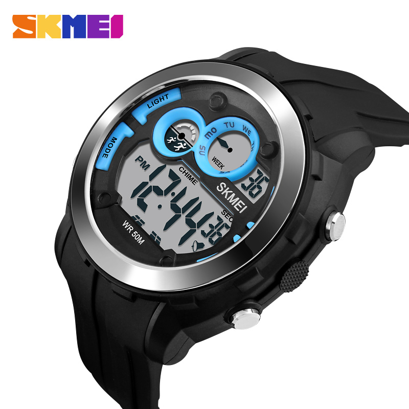 SKMEI Outdoor Sports Watches Men Military 50M Waterproof Chronograph Watch Fashion Digital Wristwatches Relogio Masculino купить в Москве 2019