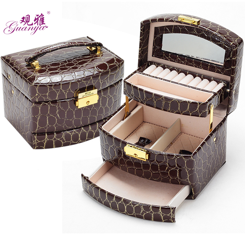 Automatic Jewelry Box 3 layers Jewelry case Jewel Package Storage For Holding Ring Necklace Bracelet Earring